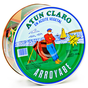 Atún Claro en aceite de girasol lata Arroyabe