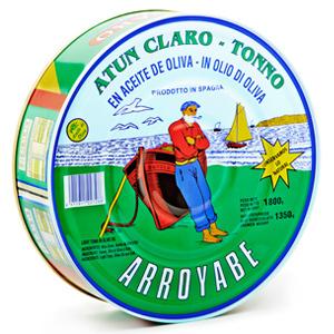 Atún claro en aceite de oliva pandereta Arroyabe
