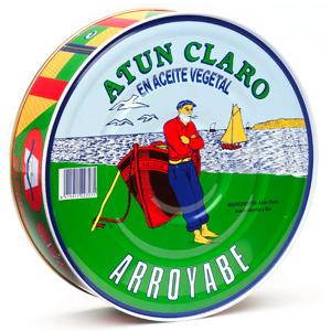 Atún Claro en aceite de girasol pandereta Arroyabe