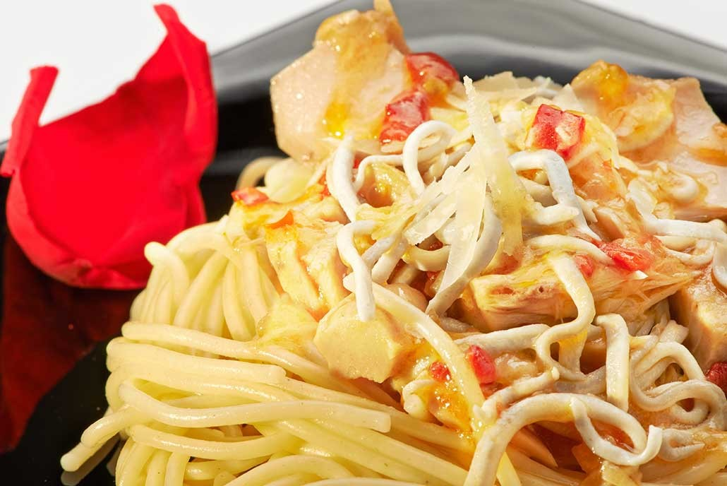 Spaghetti with seafood recipe
