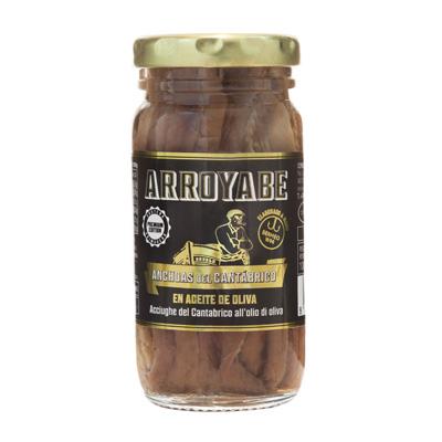 Anchoas del Cantábrico en frasco 100 gr.