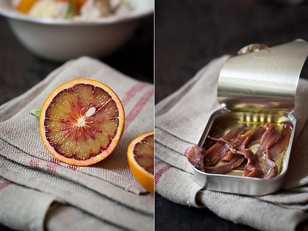 Ensalada de Anchoas y naranja