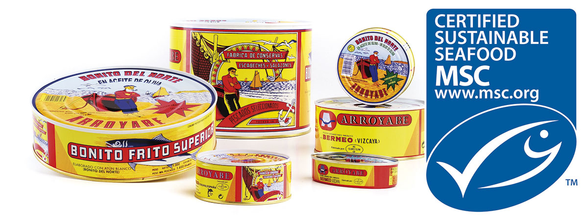 MSC certified seafood preserves | Arroyabe canned fish