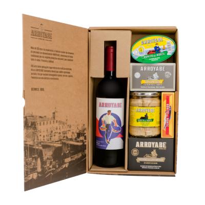 Ruta vino pescado caja regalo
